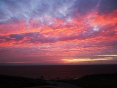 Sunset in Perran Sands, Cornwall (my own)