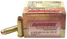 Shooting :: Ammunition :: Centerfire Handgun Ammunition :: Barnes Bullets 44 Magnum 225gr XPB VOR-TX /20 - Outdoor Arsenal