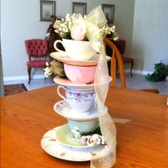 tea party - another cute centerpiece