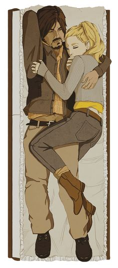 Beth Greene and Daryl Dixon by ohatlas on DeviantArt. Headcannon that this happened after the whole piano scene. I mean, where else was she gonna sleep?