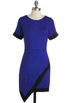 Contemporary Employment Dress. Look cutting edge as you expertly complete tasks in this indigo dress. #blue #modcloth