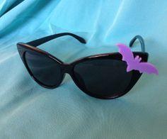 Bat Pin Up Cat Eye Sunglasses Rockabilly Halloween Pastel Goth on Etsy, £16.12