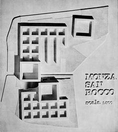 Competition project : Residential complex in San Rocco, Monza (1966)   Aldo Rossi in collaboration with Giorgio Grassi