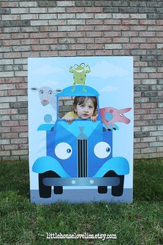 Cricut Cutouts For Little Blue Truck Birthday Party Birthdays