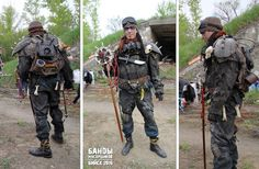 """Post-apo costume  design.  For LARP Game - """"The Trash Bands"""". Genre post-apocalyptic."""