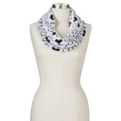 Juicy Couture ''Love'' Heart Print Cowl Scarf