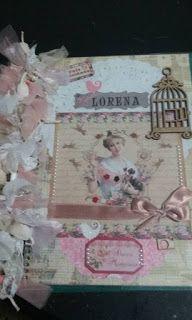 Scrap da Ester: caderno decorado/dama