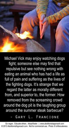 Michael Vick's dog fighting pit v. the circle around the summer barb-a-q pit....
