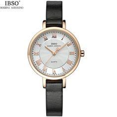 US $54.98 - Top Fashion Simple Womens Bracelet Watch Luxury Brand Rose Gold Genuine Leather Ladies Watches 3ATM Waterproof Quartz Wristwatch