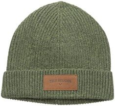 2b6e4fd59d5d9 True Religion Men s Ribbed Knit Watchcap With Patch Review Designer Beanies