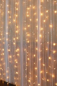 Wedding Discover Vmanoo Curtain Lights 300 LED Window Icicle Fairy String Lights UL listed with Tail Plug for Home Outdoor Indoor Wedding Xmas Party Decorations Warm White Fairy Light Curtain, Led Curtain Lights, String Lights, Pink Ruffle Curtains, Diy Curtains, Sheer Curtains, Crystal Curtains, Curtain Accessories, Wedding Ceremony Backdrop