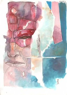Galactus & the Silver Surfer by Alex Maleev.