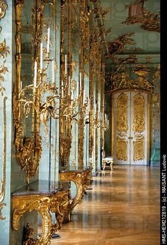 Rococo interior - Schloss Charlottenburg, Berlin, Germany: