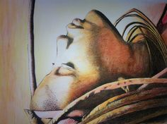 Piera Fenech; 2012, Pen and water colour, African Woman