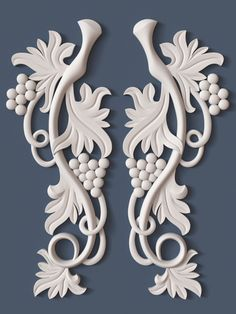 10 Decorative Scrolls Collection model architectural, available formats OBJ, ready for animation and other projects Wood Carving Designs, Wood Carving Patterns, Wood Carving Art, Wood Art, Bottle Painting, Bottle Art, Bottle Crafts, Plaster Crafts, Plaster Art