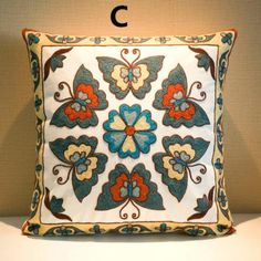 Butterfly embroidered cushions for sofa Chinese style