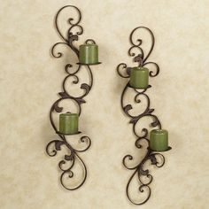 Jennison Metal Wall Sconce Set from TouchofClass.com  - - this might work!