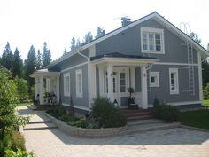 Julkisivu, khh sisäänkäynti House Plans, Nordic Home, House Styles, Country House, Craftsman House, House, Beautiful Homes, Home Focus, My House