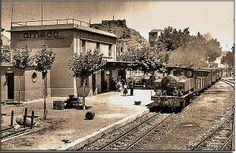 Locomotora frente a la estación de Arnedo.(Foto Fermin de Blas)