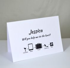 Will you be my bridesmaid card!  A lovely way to ask your girls!