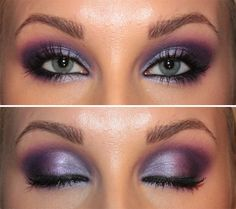 Purple Orchid // Easy to recreate with Urban Decay Eye Shadows