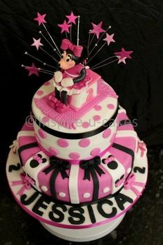 minnie mouse birthday cake  Cake by laineytich