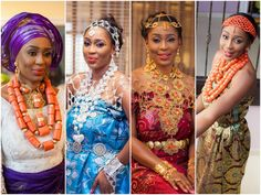 OMG! Gorgeous!!!! The jewelry on the third lady is just incredible... Nigerian Wedding: Delta Bride + Rivers Groom by Bk Concept – KnotsVilla