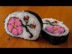 How to Make Flower Sushi Art - Amazing Food Recipe  amazing sushi roll recipe!