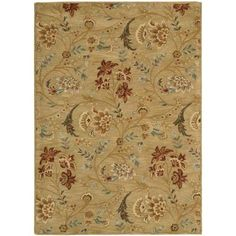 Nourison Overstock Firenze Gold 5 ft. 3 in. x 7 ft. 4 in. Area Rug - 089298 - The Home Depot