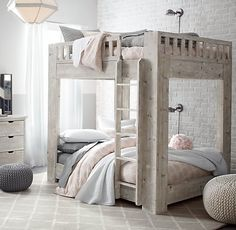 Callum Platform Full-Over-Full Bunk Bed | All Beds | Restoration Hardware Baby & Child