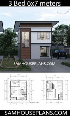 Mini House Plans, Small Modern House Plans, Simple House Plans, Model House Plan, Beach House Plans, House Layout Plans, Simple House Design, Dream House Plans, House Layouts