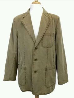 The Territory Ahead mens large jacket sport coat tan silk blend brown #TerritoryAhead #sportjacket
