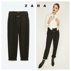 ZARA More Pants ZARA premium newsprint buckle pants 1971 / 221