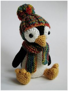 Pingu, amigurumi, toys, penguin. Very similar crochet pattern for this here: http://www.etsy.com/listing/76212698/pattern-amigurumi-penguin-english