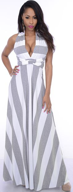 Stop (Grey/White)-Sexy Snob -Hot and Elegant clothes at great prices