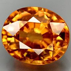 Rare Honey Orange Zircon Faceted Cushion 9 x 8 MM by SilverFound, $95.00