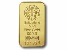 Argor Heraeus is considered to be one of the finest refineries in the world. Each Argor Heraeus minted gold bar comes in a tamper-resistant package with assay certificate. The front of the gold bars are stamped with the Argor-Heraeus Logo, weight, purity, assayer stamp, and unique serial number.