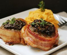 Multiply Delicious- The Food | Sundried Tomato Pesto Bacon Wrapped Meatloaf Rounds