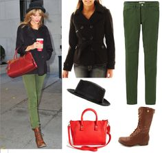 New Blog Post! See how to copy Taylor Swift's Red/Green Casual Outfit, on the cheap. http://copycatqueenv.blogspot.com.au/2013/11/taylor-swift-redgreen-casual-outfit.html  Copycat Queen V - Affordable options to copy celebrity style, on a budget.