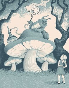 ALICE AND THE CATERPILLAR BY JILLIAN NICKELL