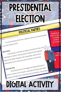 Everything you need to teach your upper elementary social studies students about the U.S. presidential election while distance learning! This digital presidential election unit teaches students about the presidential election process, electoral college, political parties, and election campaigns using nonfiction readings and sketch notes graphic organizers. Your 4th, 5th, and 6th grade social studies students will also write and record a campaign speech to become president. 6th Grade Social Studies, Social Studies Activities, Elementary Science, Upper Elementary, Presidential Election Process, 7th Grade Classroom, Sketch Notes, Political Party, Graphic Organizers