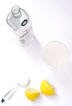 The Aviation  2 oz gin  .75 oz fresh-squeezed lemon juice   .5 oz maraschino liqueur  .25 oz creme de violette