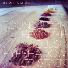 the tutorial of all tutorials for ALL NATURAL HOMEMADE MAKEUP. With just 9 ingredients you can create not only a FOUNDATION, but also a BRONZER, BLUSH, EYESHADOW and LIP STAIN! This is by far the best pin for all natural makeup. Everything is organic, all natural, and edible! Trying this out ASAP!