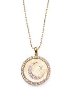 Anzie - Royale Celestial Moon Crescent Medallion - Diamonds