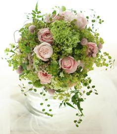 ナチュラルクラッチブーケ 秋のセピアピンク ラ・ブラスリー様へ : 一会 ウエディングの花