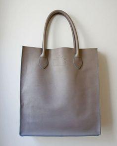 Gobi Shopper Tote Bag in Matte Grey - Nomadic Splendor: http://nomadicsplendor.com/
