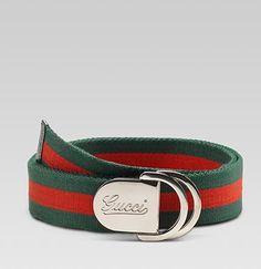 Classic Red & Green Gucci Belt