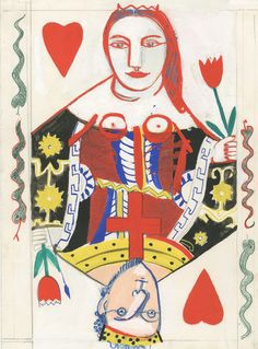 Playcard , gouache pencil  #agnes nys