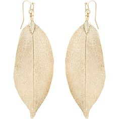 Accessorize Dipped Leaf Earrings ($23) ❤ liked on Polyvore featuring jewelry, earrings, accessorize jewelry, leaves earrings, earring jewelry, leaves jewelry and leaf jewelry