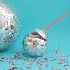 Packed Party Silver Disco Drink Tumbler